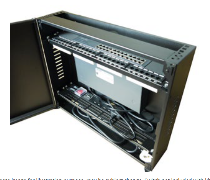 ORC-4U-VCAB-K | Vertical Network Data Cabinet – Orcomm – In